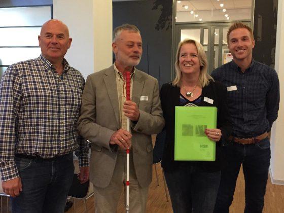 Van links naar rechts: Herman Kriek, jan Poot, Patricia van Aaken en Eelco Diesen.